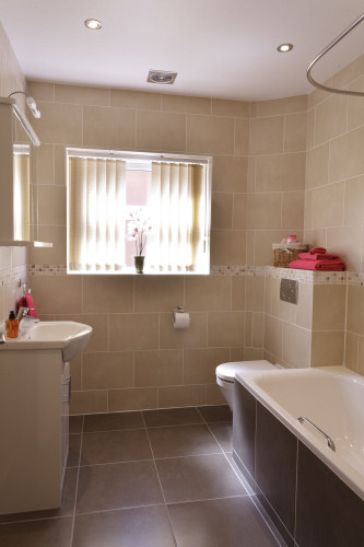 Twin Room Bathroom with Shower over Bath